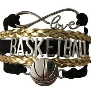 Girls Basketball Bracelet - Black & Gold